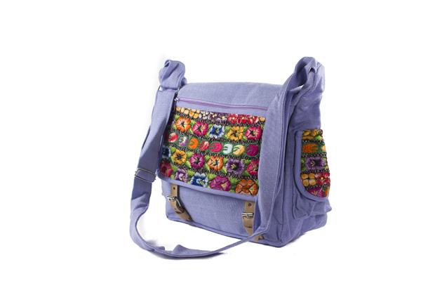18594b332ce Tas Mayablouse Leren Gespen Lila | Fairtrade Cadeaubon – de eerlijke ...